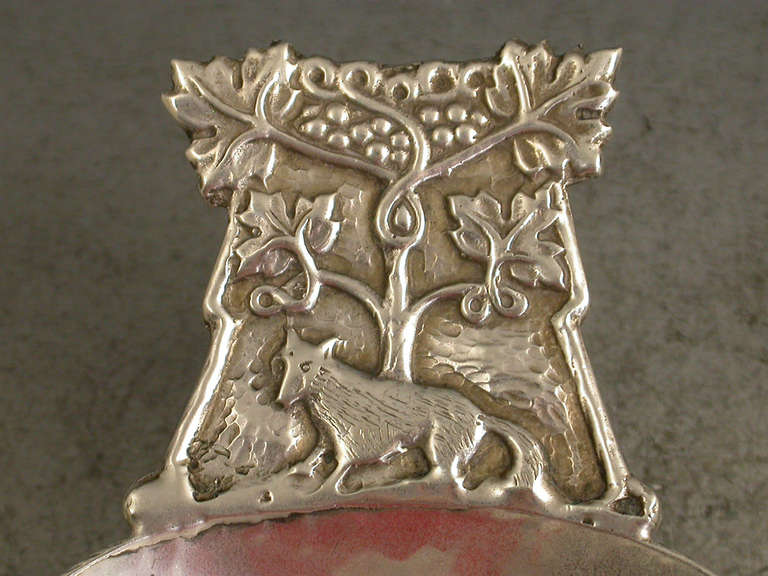 20th Century Aesops Fable Fox And Grapes Caddy Spoon At 1stdibs
