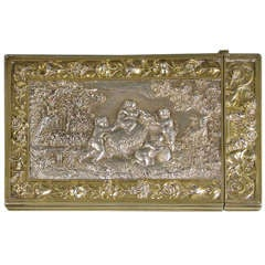 Victorian Parcel-Gilt Electrotype Card Case