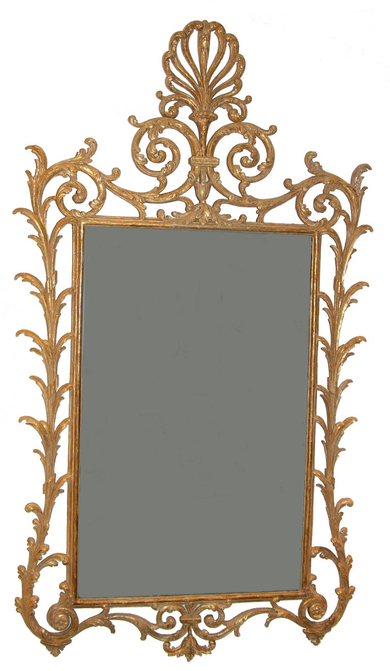 George III Giltwood Mirror in the Manner of Linnell