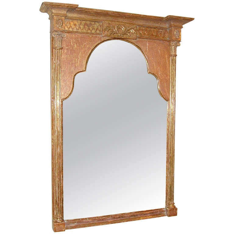 Regency Giltwood Mirror with Shaped Glass