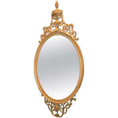 George III Oval Mirror