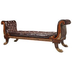Regency Simulated Rosewood and Parcel-Gilt Daybed