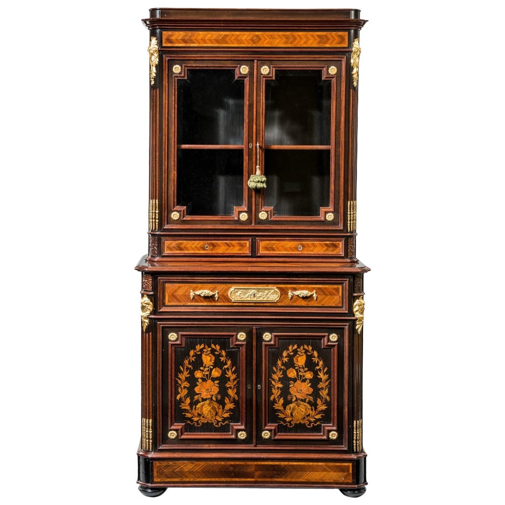 Napoleon Iii Kingwood Bookcase Of Small Proportions For