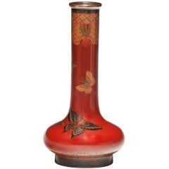 Japanese Cloisonne Enamel Vase in the Style of Namikawa Yasuyuki