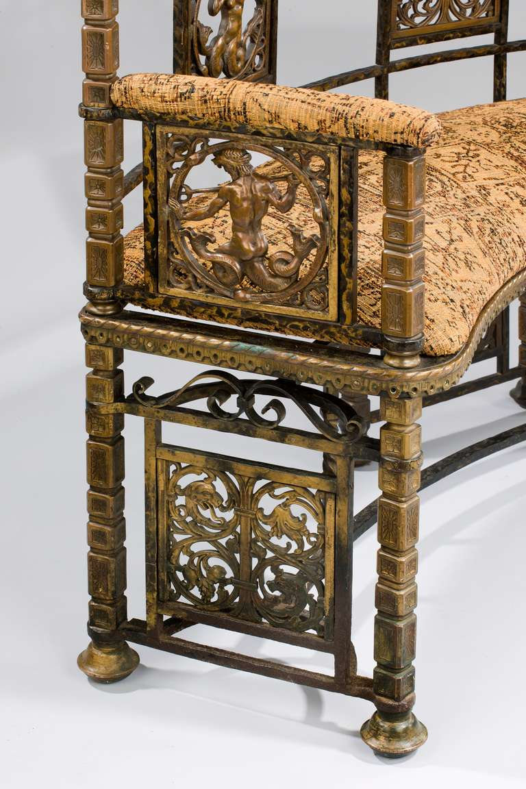 Wrought Iron Antique Bench At 1stdibs