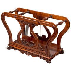 Late Regency Rosewood Music Note Holder