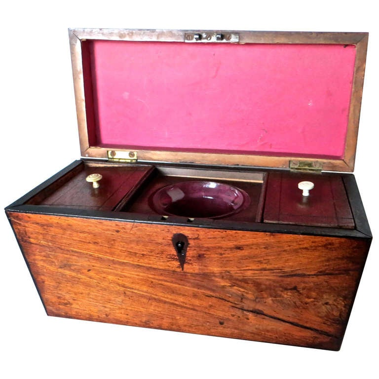 Georgian Mahogany 18th Century Tea Caddy, circa 1780