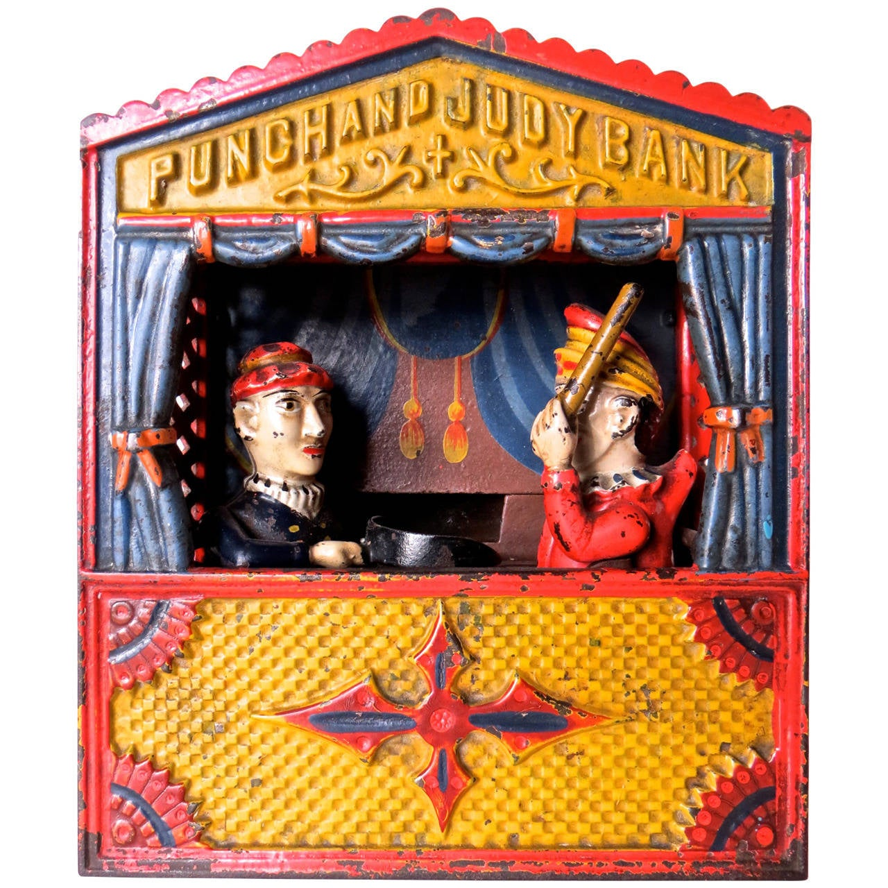 """Mechanical Bank """"Punch and Judy"""" Large Letter Variation, circa 1884"""