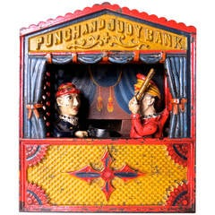 "Mechanical Bank ""Punch and Judy"" Large Letter Variation, circa 1884"