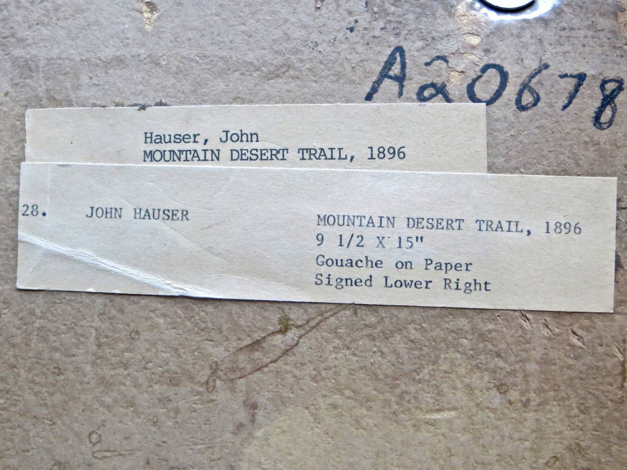 "John Hauser ""Mountain Desert Trail"" Dated 1896 6"