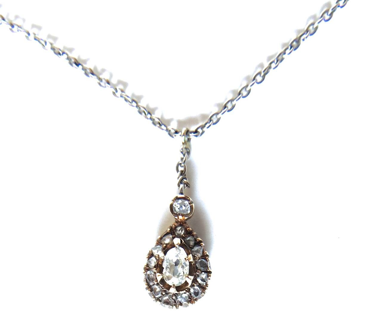 Diamond and Gold Victorian Necklace, circa 1895 For Sale 2