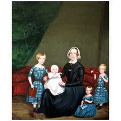 Folk Art Oil on Canvas, circa 1830 Attributed to S.V.D. Schans, Unsigned