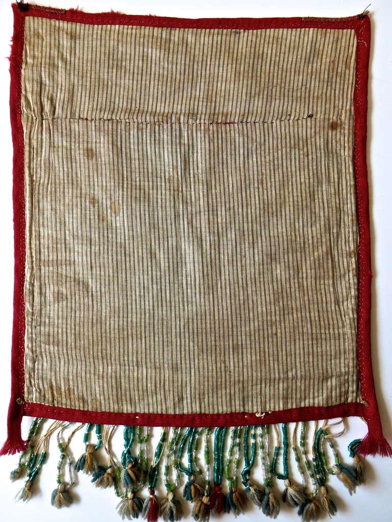 19th Century Native American Bandolier Beaded Bag, Great Lakes, circa 1890 3