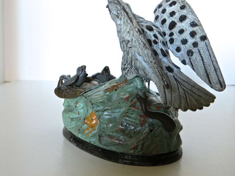 Mechanical Bank Quot Eagle And Eaglets Quot Circa 1883 At 1stdibs