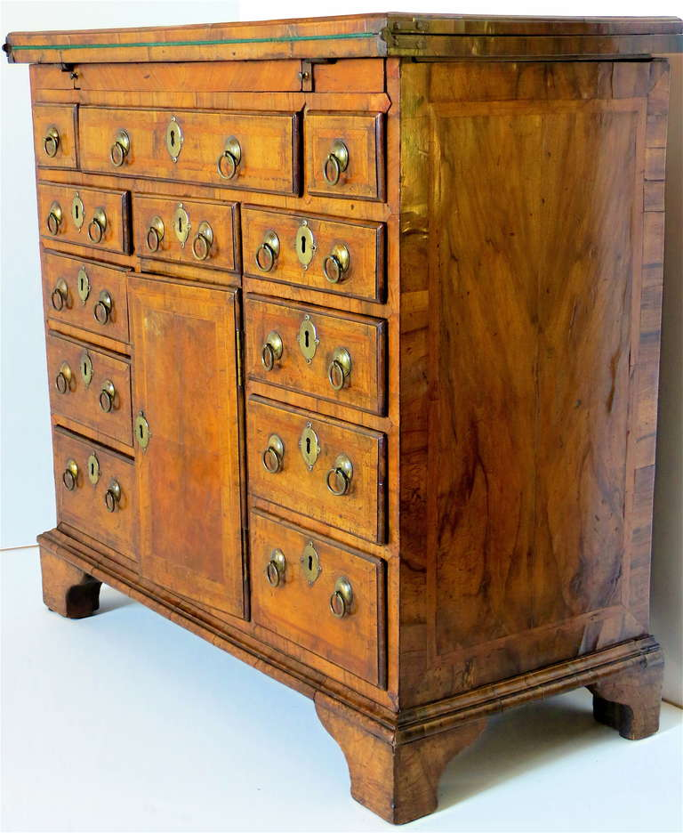 George I Walnut Bachelors Chest, circa 1720 For Sale 1