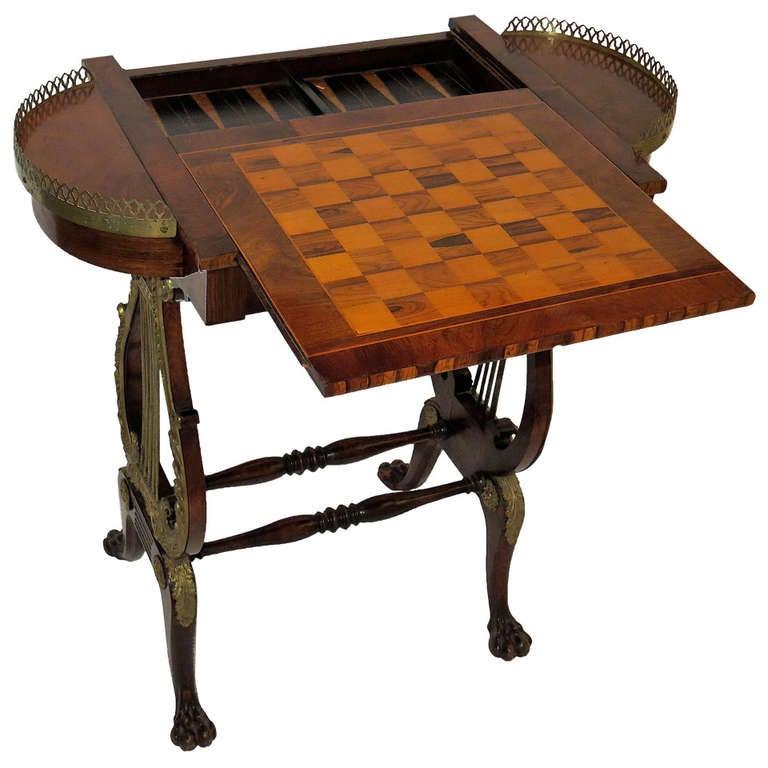 19th Century Regency Rosewood and Calamander Games Table, circa 1815