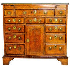 George I  Walnut  Bachelors  Chest.    Circa 1720