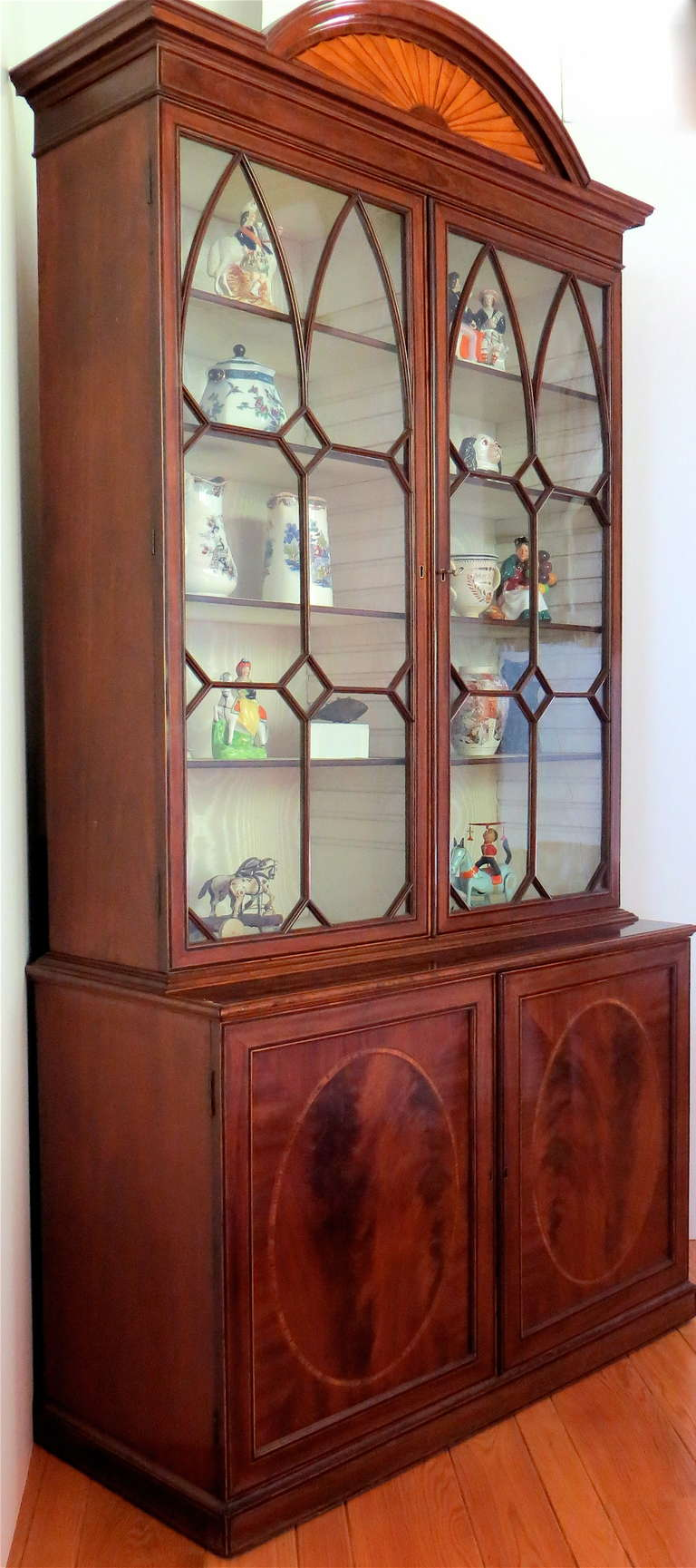 English George III Mahogany Bookcase, circa 1785 For Sale