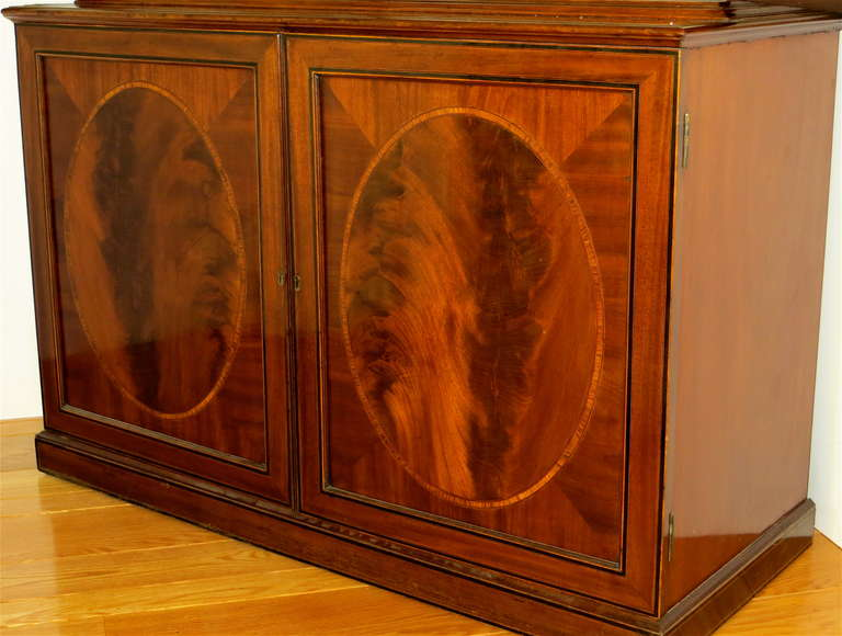 19th Century George III Mahogany Bookcase, circa 1785 For Sale