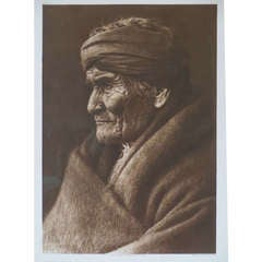 "Edward S. Curtis Photogravure of ""Geronimo"" Dated 1907"