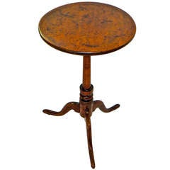 18th Century American Queen Anne Candle Stand, circa 1775