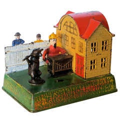 "Mechanical Bank ""Organ Grinder & Performing Bear,"" circa 1882"