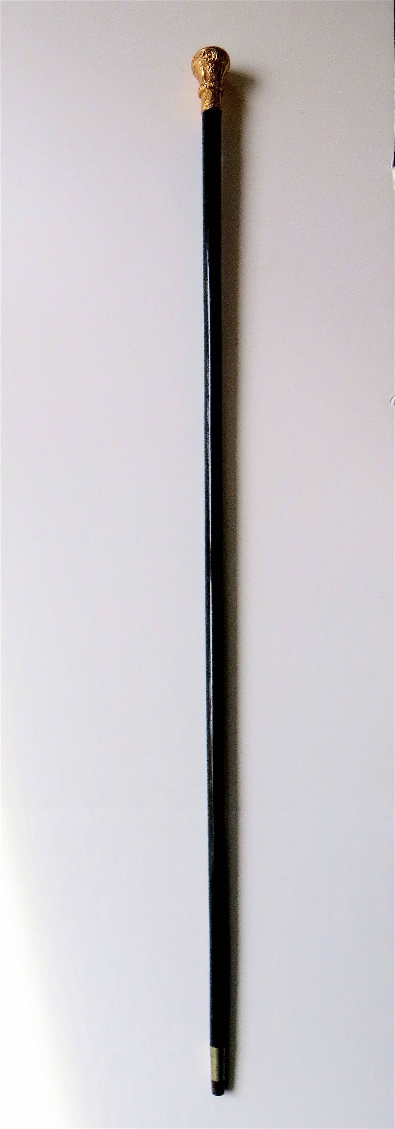 American Walking Stick or Cane with 14k Gold Top, circa 1906