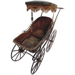 19th Century Victorian Fancy Baby Carriage, circa 1878
