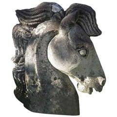 Unique Garden Cast Stone Horse Head Sculpture