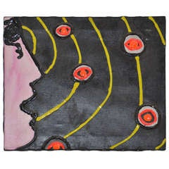 Midcentury Seminal Painting by Noted Contemporary Artist Ronn Jaffe