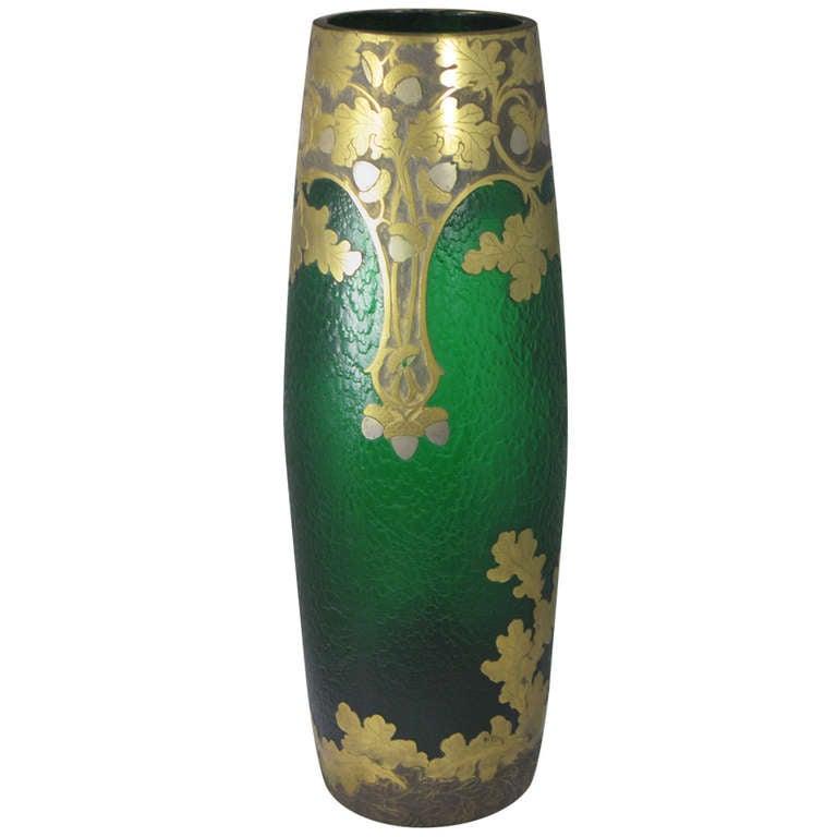 monumental rare art nouveau 39 exhibition vase by legras and cie provenance sale at 1stdibs. Black Bedroom Furniture Sets. Home Design Ideas