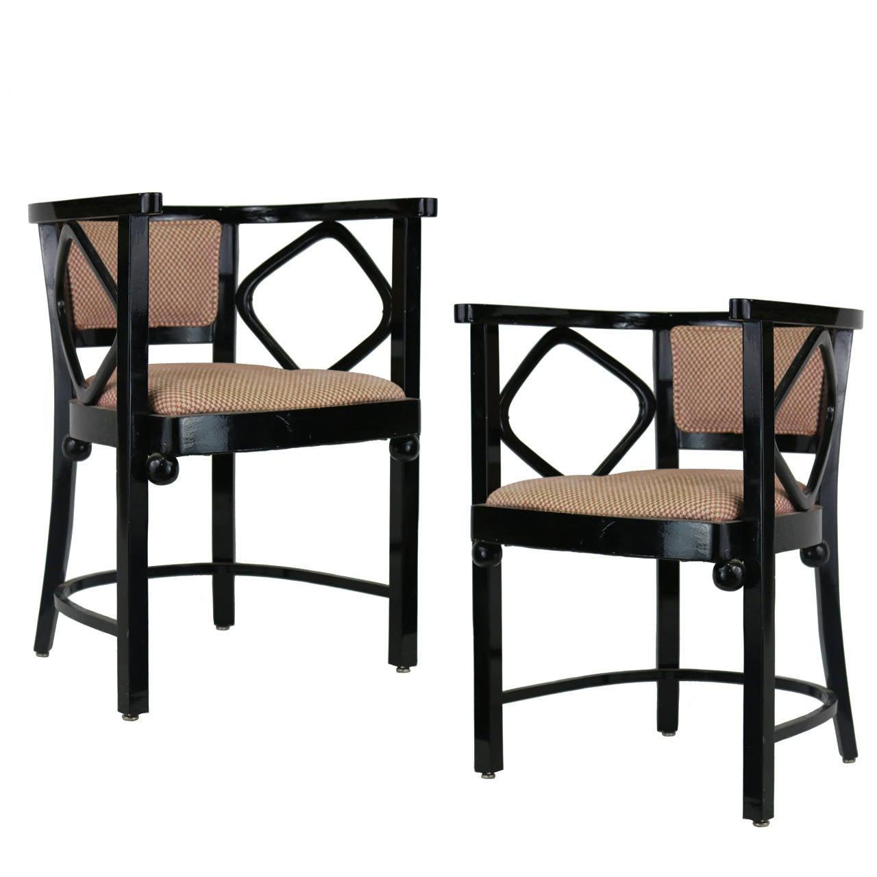 1960s Pair Of Joseph Hoffman Fledermaus Inspired Chairs 1