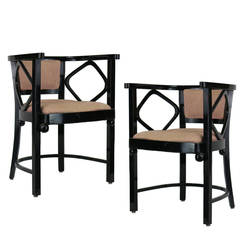 1960s Pair of Joseph Hoffman Fledermaus Inspired Chairs