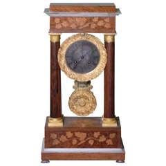 Tycoon's circa 1838 French Empire Portico Mantel Clock-Provenance