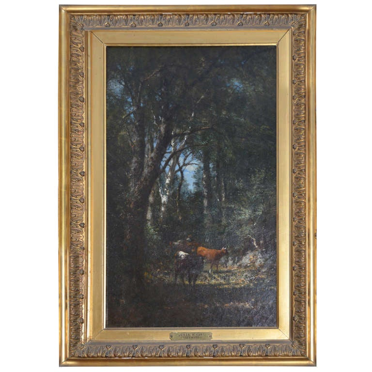 Fine Oil Painting by James McDougal Hart with Provenance 19th century