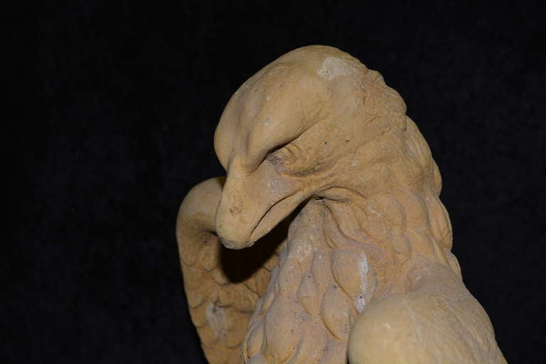 Garden Cast Stone Eagles-Fountain/ Statue. with Provenance For Sale 1