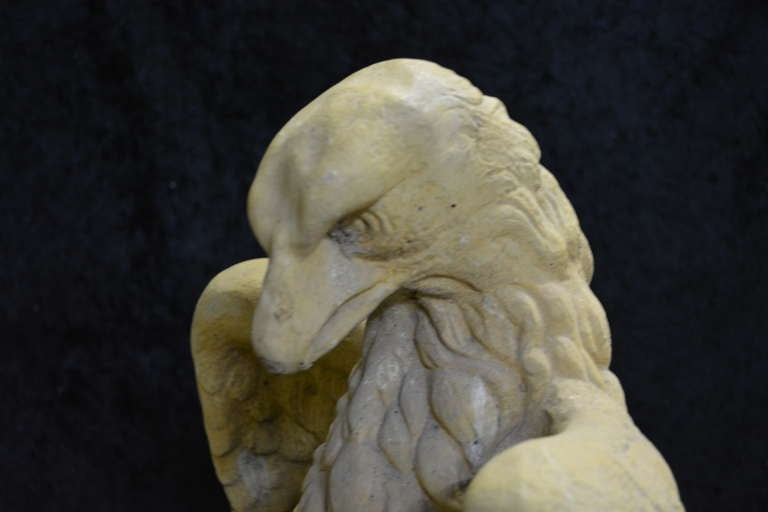 Composition Garden Cast Stone Eagles-Fountain/ Statue. with Provenance For Sale