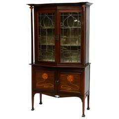 Exquisite Art Nouveau Marquetry Cabinet Iconic Majorelle Style -Provenance
