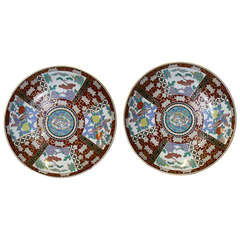 Meiji Period Large Japanese Imari Chargers with Provenance 19th century