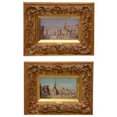 Carnier Orientalist Oil Paintings- Period Gilt Frames-19th c. Signed