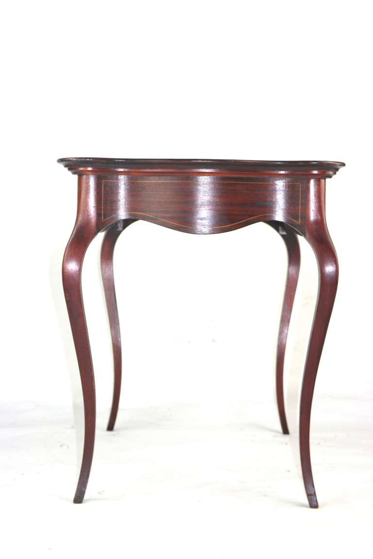 Majorelle style french art nouveau side table with floral