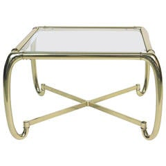 Stunning Mastercraft Sculptural Brass Coffee Table