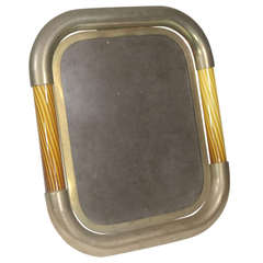 1950s Italian Tomasso Barbi Art Glass Picture Frame with Famed Provenance