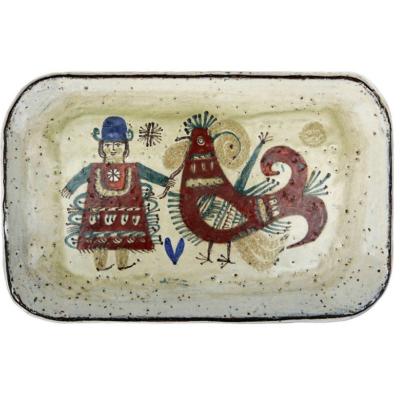 Wall-Plaque / Platter by Gustave Reynaud - Le Mûrier For Sale
