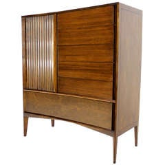 Edmond Spence Mid Century Danish Modern Walnut High Chest Dresser
