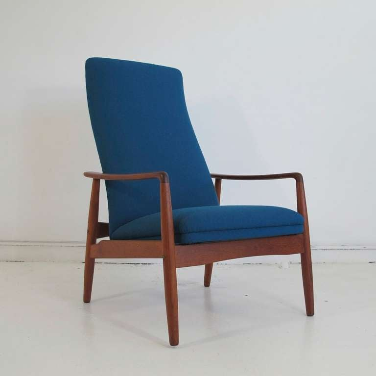 Charmant Vintage High Back Reclining Lounge Chair Designed By Svend Langkilde For SL  Mobler Denmark.