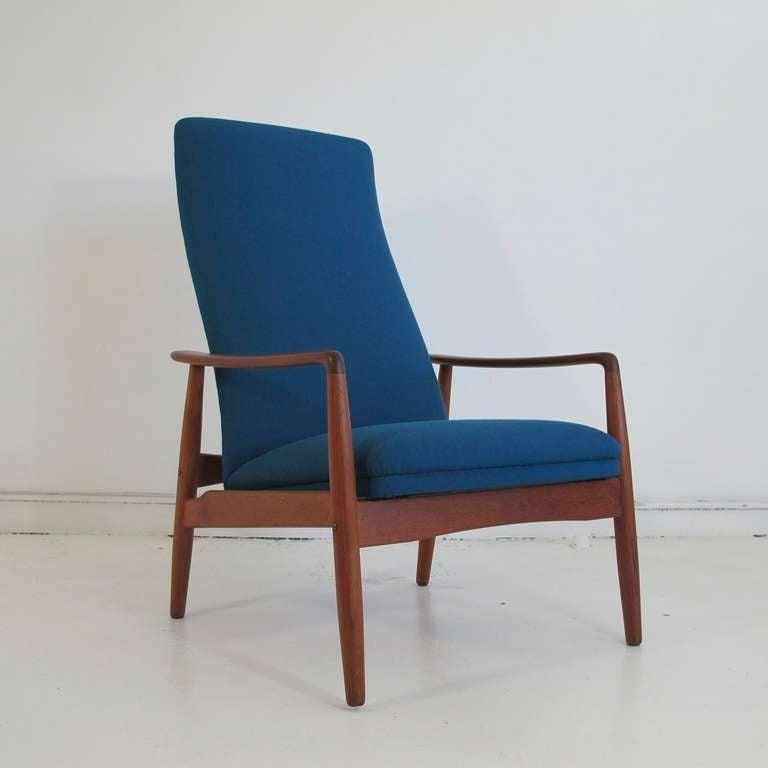 Mid century Danish High back Reclining Lounge Chair image 2