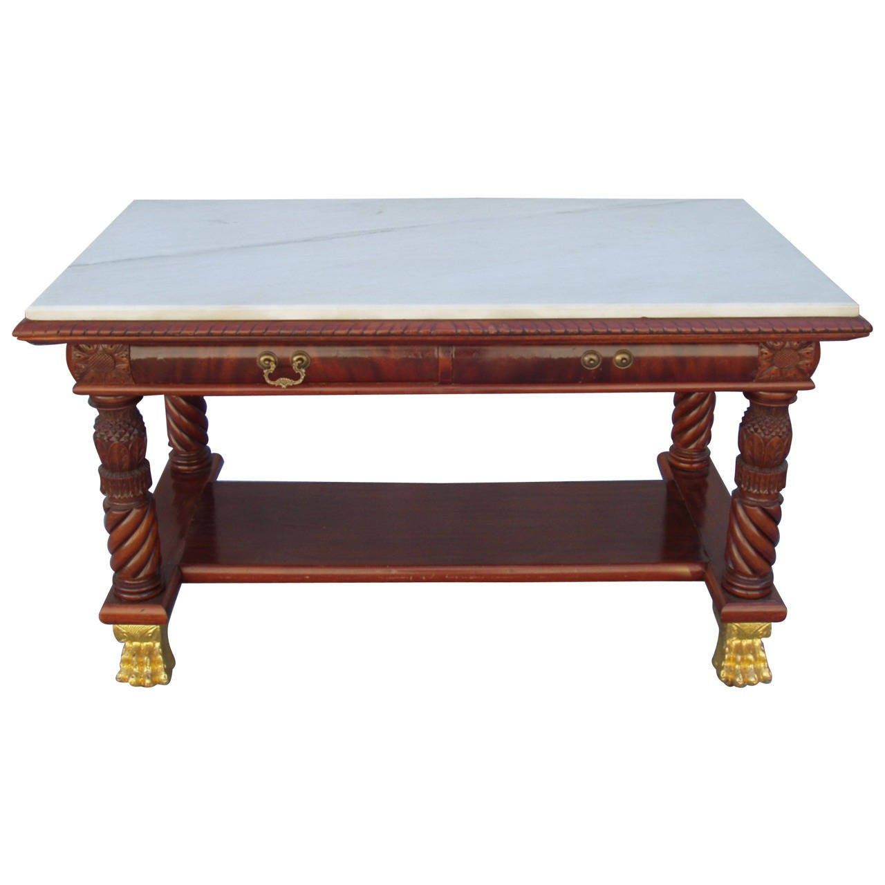 Superb Museum Piece American Library Table Desk -19th century
