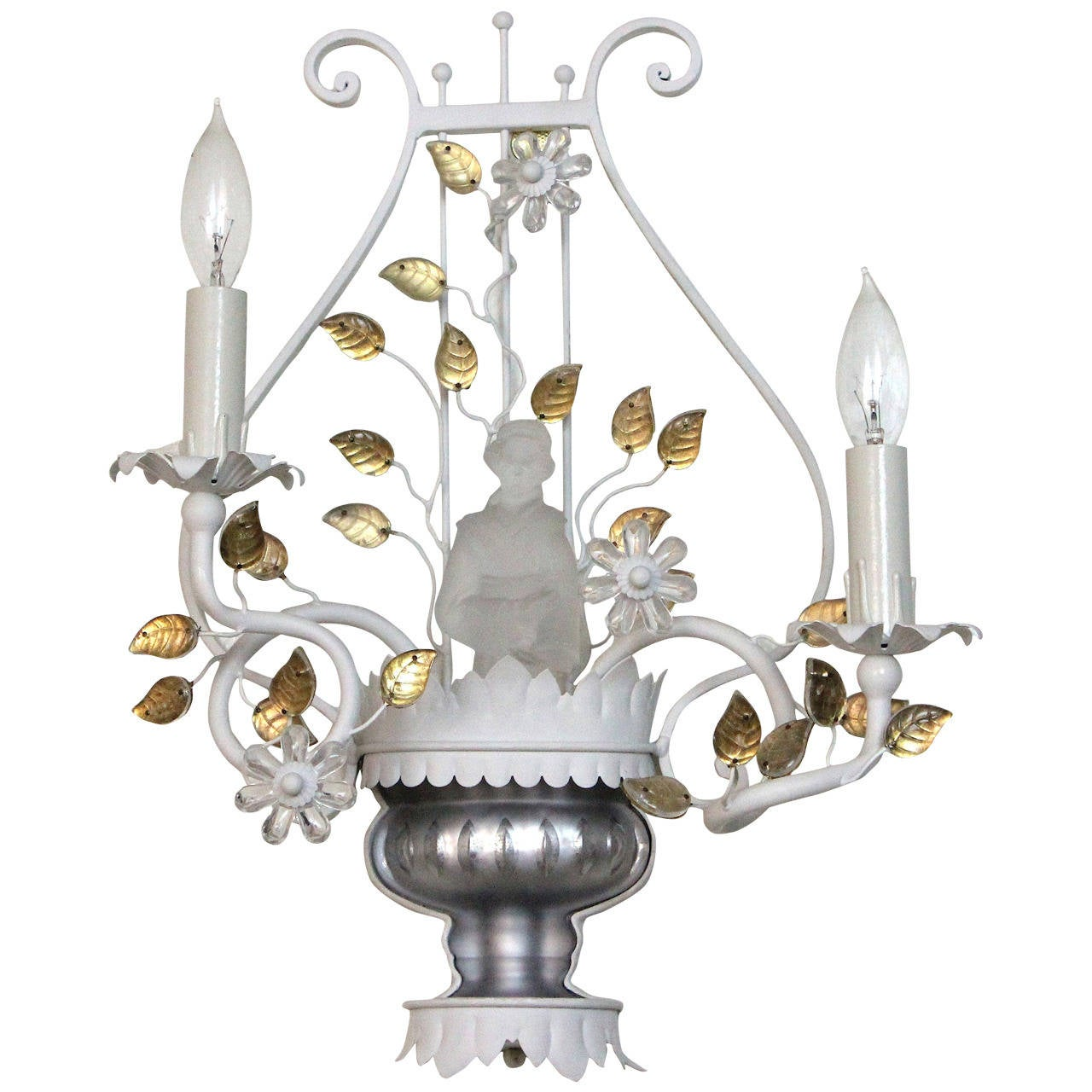Sherle wagner unique chinoiserie tole light sconce from mar a lago sherle wagner unique chinoiserie tole light sconce from mar a lago palm beach for arubaitofo Choice Image