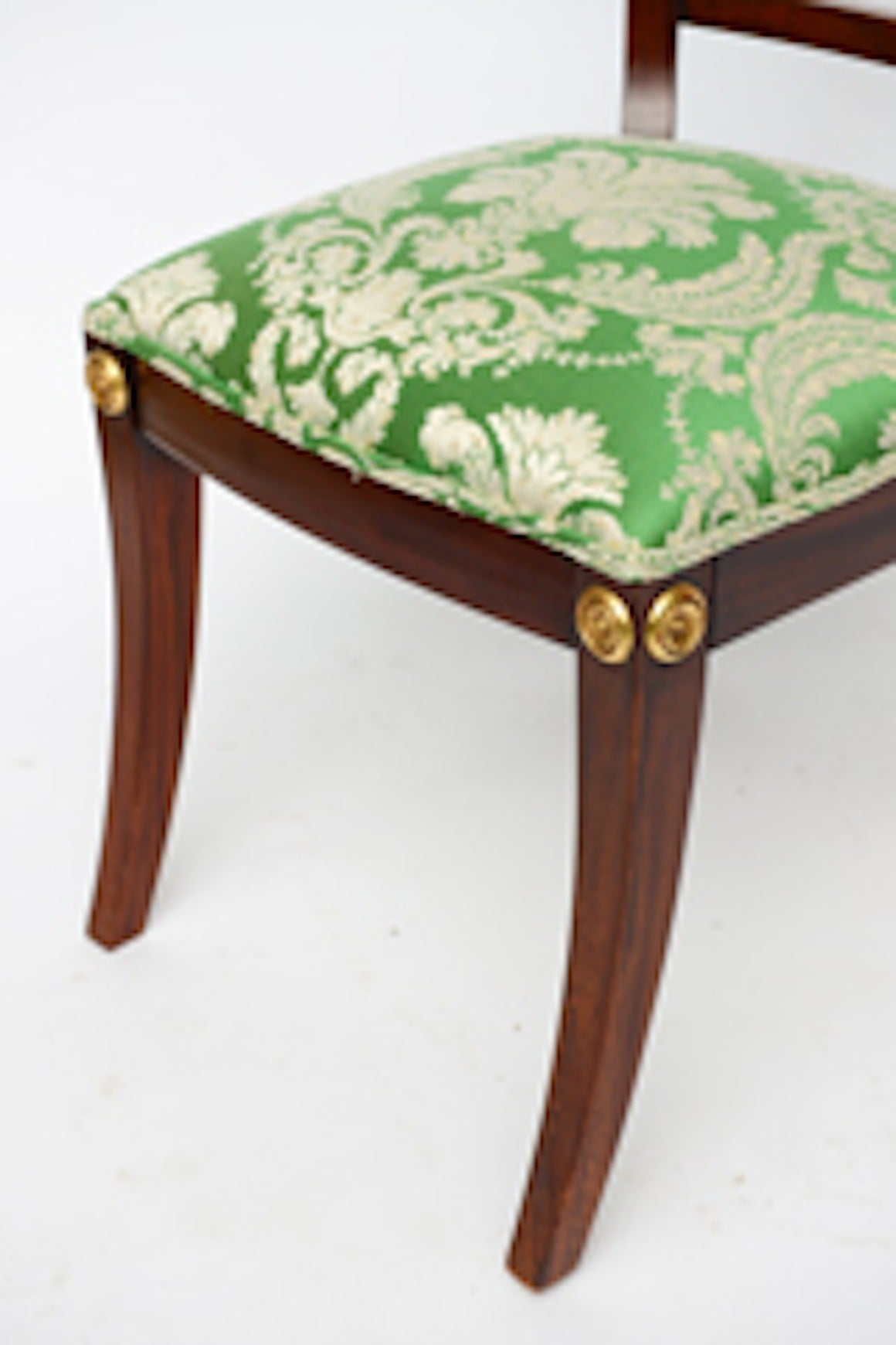 Elegant Regency Klismos Dining Chairs, Highly Carved Gilt Details, 19th Century For Sale 4